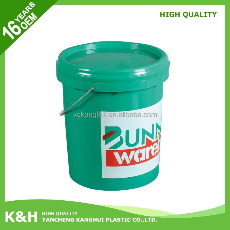 Plastic 20kg bucket 20 liter plastic drum 5 gallon oil containers with low price