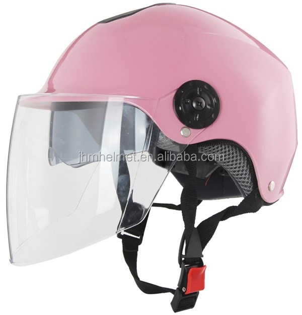 New design ABS material half face helmet motorcycle with sun shield