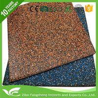 Hot selling outdoor basketball court rubber floor tile rubber puzzle mat with low price