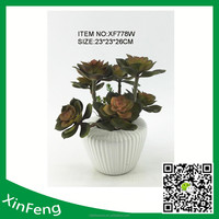 mini artificial succulents with pot for garden decorations
