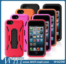 3 Defender PC Silicone Kickstand Robot Case For iPhone 5C