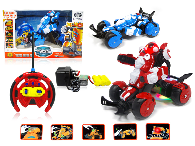 Deformation toy.27cm RC transform Robot Car remote control stunt toy Racing car toy Truggy Fengyuan