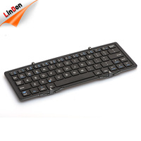 Ergonomics foldable bluetooth keyboard with aluminum baseplate for Smart Phone keyboard case