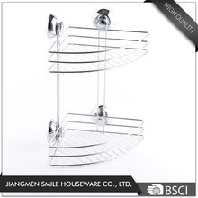 Custom 2 tiers sharp corner dish kitchen racks with suction cup