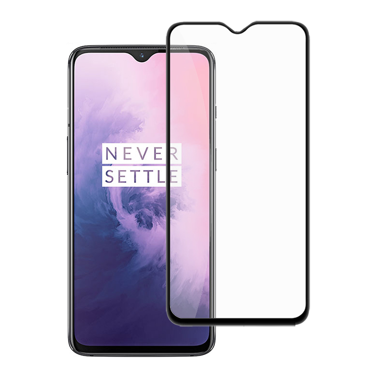 <strong>1</strong>+7 9H Hardness HD Clear Tempered Glass Full-Cover Screen Protector Designed for Oneplus 7