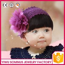 New children bang wig Purple hair net hair by hand Baby photographed tire