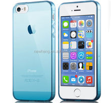 0.5mm ultrathin colorful TPU case for iphone 5, for iphone accessory