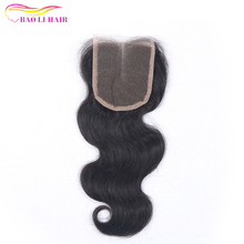 Wholesale Cheap Natural Black Color Body Wave Human Hair 4X4 Remy Lace Closure