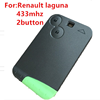 remote key 2button 433mhz fit for Renault laguna car key