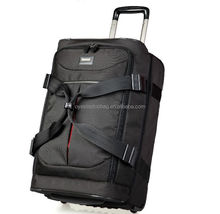 good looking multifunctional External trolley soft nylon luggage bags
