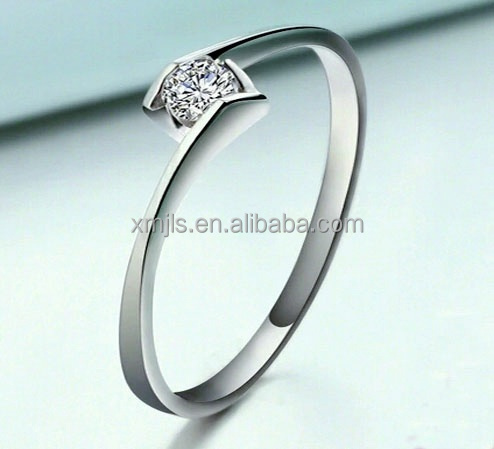 Women silver ring 925 with diamond