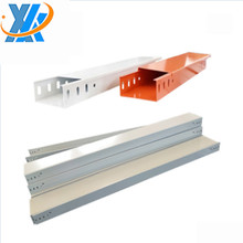 Fireproof powder coated cable trunking tray for laying computer cables