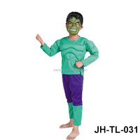 2016 wholesale hot sale children wear green giant face mask halloween