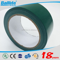 China Supplier Ecofriendly high performance strong peeling strength green colored 0.15mm electrical waterproof tape