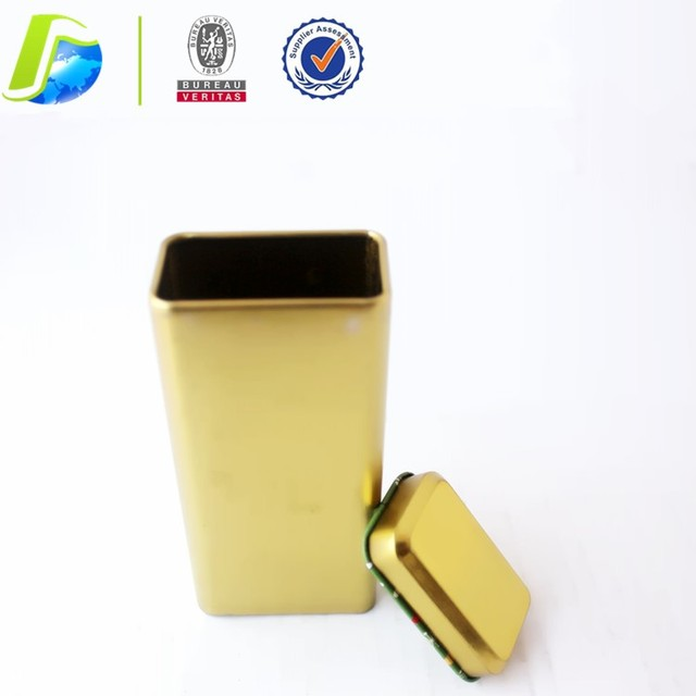 rectangle full embossed perfume tea tin can new design UAE style metal box recyclable packaging tin box