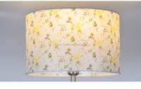 Modern Style Fabric Painted Drum Floor And Table Lampshade