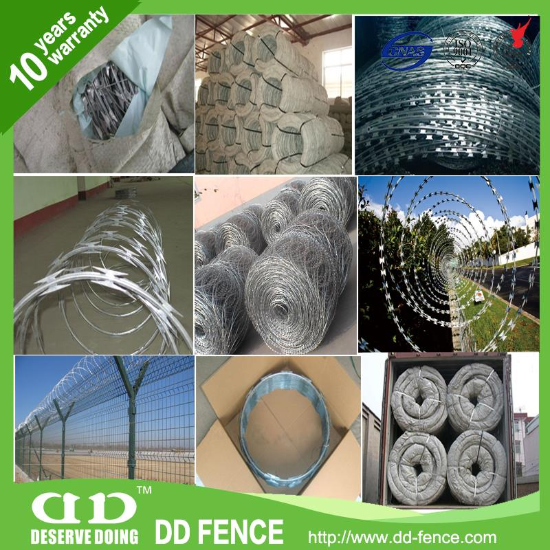 bulk spiral concertina crossed razor barbed wire green pvc coated razor barbed wire stainless steel cross razor barbed wire