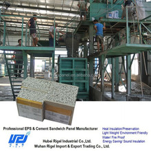 High output Lightweight Eps cement sandwich wall panel board machine Production line