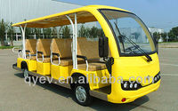 CE Approved 14 seats 48V/5KW brand new model all plastic electric shuttle bus for sale