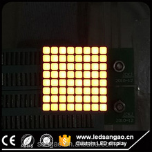matrix led 8x8 p4 p4.75 p7.62 dot matrix single color led screen module
