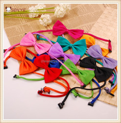 Cheap colorful dog bow tie collar pet dog tie bowknot