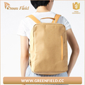 Back to school washable brown paper backpack, washable Kraft paper backpack