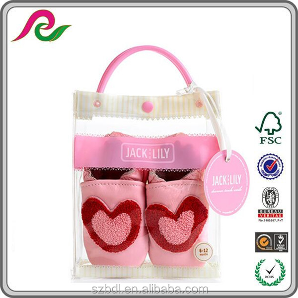 Hand length Handle Zipper lock Transparent Clear pvc Packaging bag