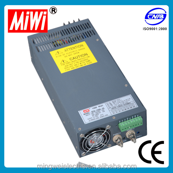 SCN-1000-27 miwi 1000w 27v 37a high voltage switching power supply