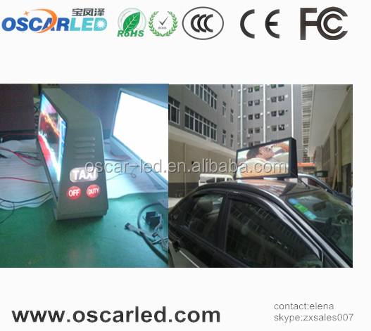 Oscarled factory price new images hd taxi top l led display screen hot xxx videos
