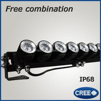 Front brush guard nickle 20'' offroad 12v led spot beam light bar