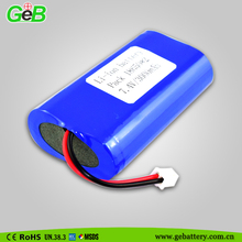 High quality 7.4v 18650 battery pack 2S2P 3000mah rechargeable battery pack