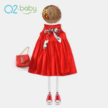 Q2-baby Custom Company Names Western Style Children 3-6 Year Old Girl Dress