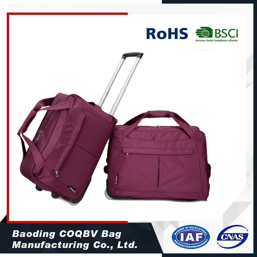 COQBV high quality custom trolley travel bags luggage