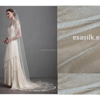 Wholesale stock 30GSM nature white100% Silk Tulle Fabric For Wedding veil