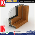 Aluminium-wood cladding profile of sliding window/door