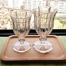 Practicability handle wine glass cup,navy blue champagne glasses for holiday