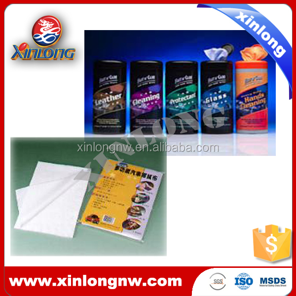 Spunlace nonwoven car cleaning wipe