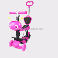 Hot selling cheap price high quality three wheels kids scooter with LED light