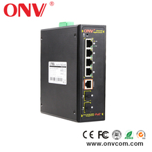 Redundant power POE Industrial Gigabit switch with Network Management