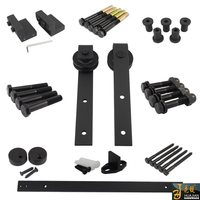 Made in China iron plating black household wooden door roller track for sliding door