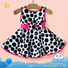 2016 new design newborn baby clothing cow style sleeveless fancy cheap baby party wear fashion girls party dresses kid dress