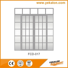 Yekalon FCD-017 High quality Patio Glass series Solid luxury fancy wood door