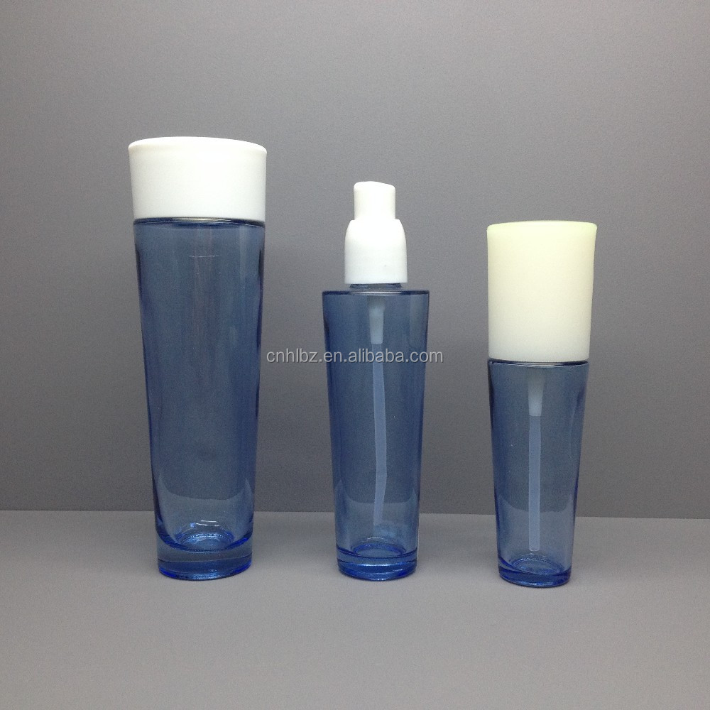 HS-13 custom Sprayed Glass Cosmetic Packaging Set Bottle For Lotion