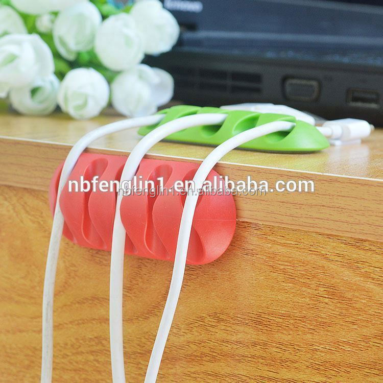 High quality 5 slots silicone earphone cable clips 2016 innovation computer accessories supplier in malaysia