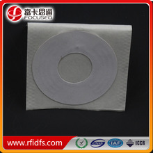 Anti-metal MIFARE NFC tag sticker for audio CDs, CD-ROMs and DVDs
