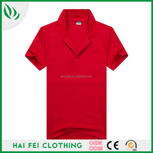 2016 Guangzhou Haifei Manufacturer Quick Dry Casual 240g 100% Cotton Short Sleeve Custom Made Man Easy Clothing