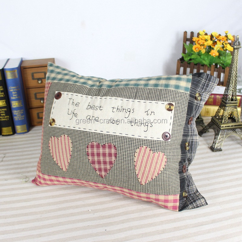 embroidered bolster pillow with hand made