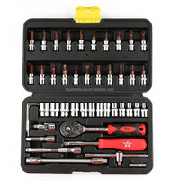 Professional Industrial Repair Tools 46Pieces Ratchet Wrench Sets With 1Piece Snap Grip Wrench