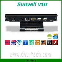 Sunvell V3II RK3188 Quad Core 1.8GHz Adnroid 4.2 TV Box 2GB/8GB Built in 5.0MP Camera RJ45 Bluetooth