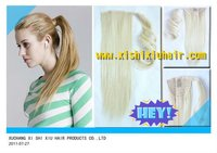 The easy use synthetic blonde long hair ponytail on alibaba for sale